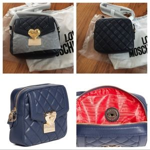 Handbags - New LOVE Moschino Quilted Crossbody Bag navy